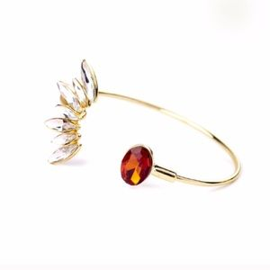 Jewelry - Gold & Orange Teardrop Cuff